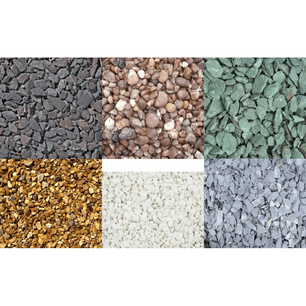 Various decorative aggregate slate chippings gravel for Landscaping rocks pinellas county