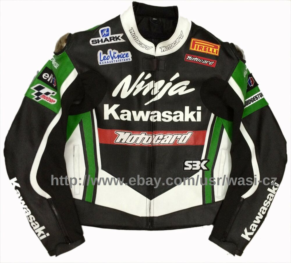 Kawasaki Monster Motorcycle Racing Leather Jacket