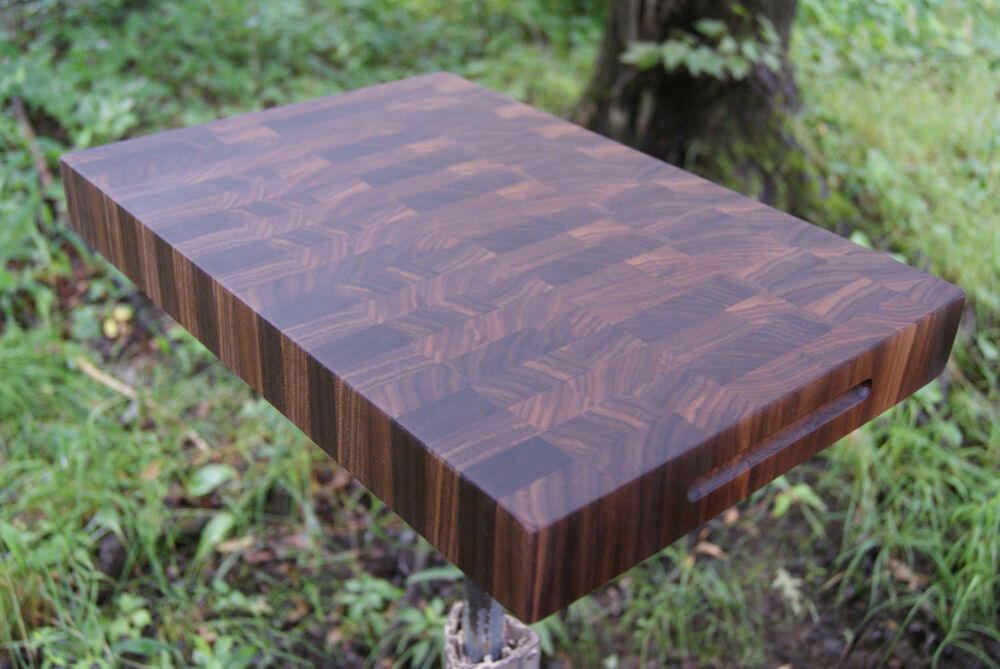 Laminboard Board Block ~ Black walnut end cutting board butcher block usa ebay