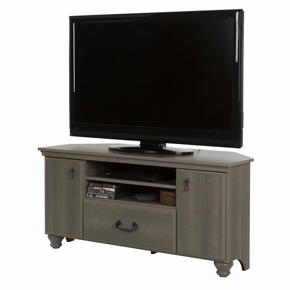 South Shore Noble Corner Tv Stand In Gray Maple For Tv S Up To 55
