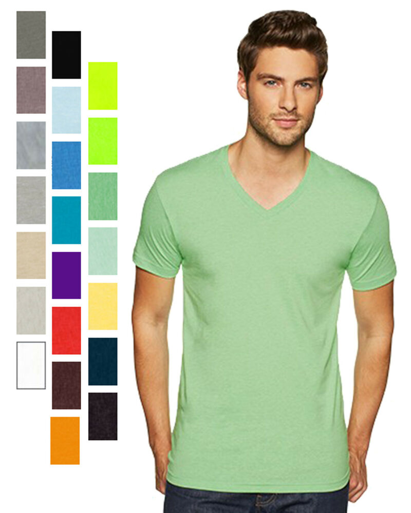 men 39 s v neck t shirt cvc poly cotton sizes s m l xl 2xl