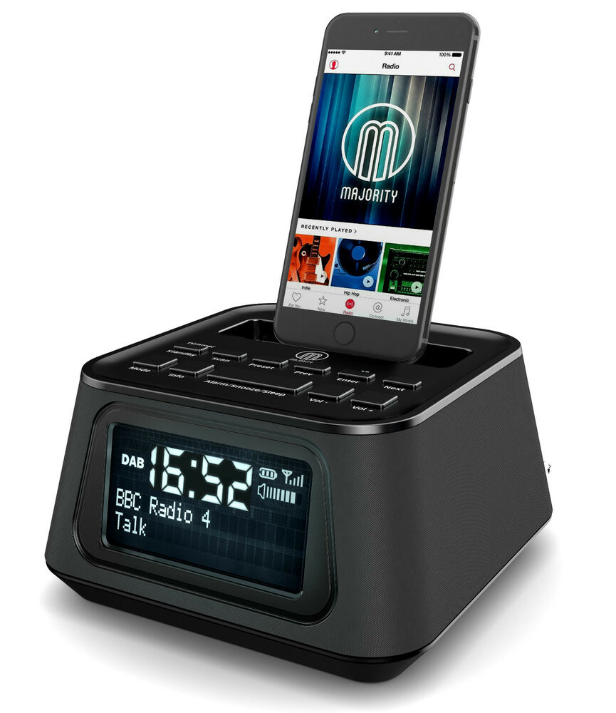 madingley rise dab radio docking station speaker dock alarm iphone 5 5s 5c 6 6 ebay. Black Bedroom Furniture Sets. Home Design Ideas