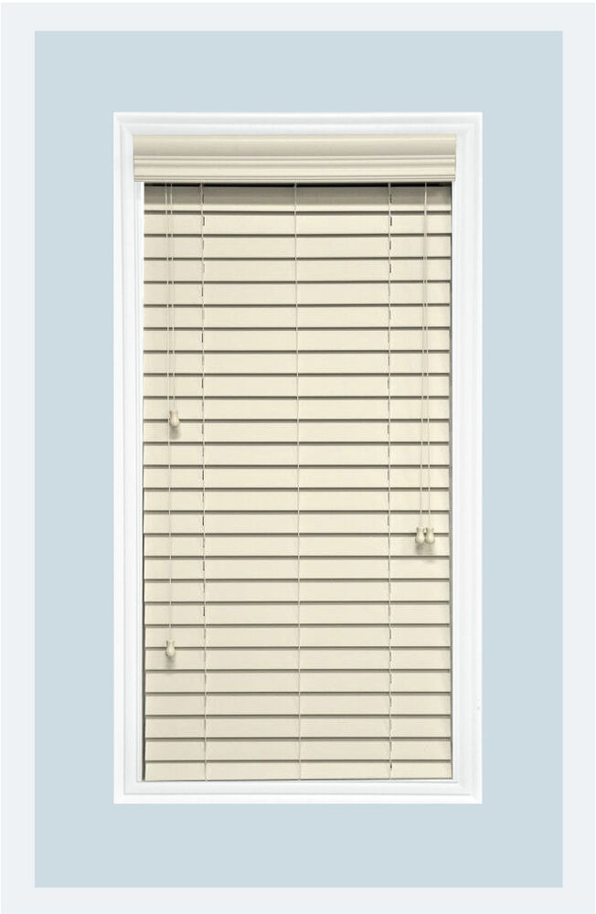 Http Www Ebay Com Itm Custom Cut To Size 2 Faux Wood Horizontal Window Blind Pearl Inside Mount 112043678485