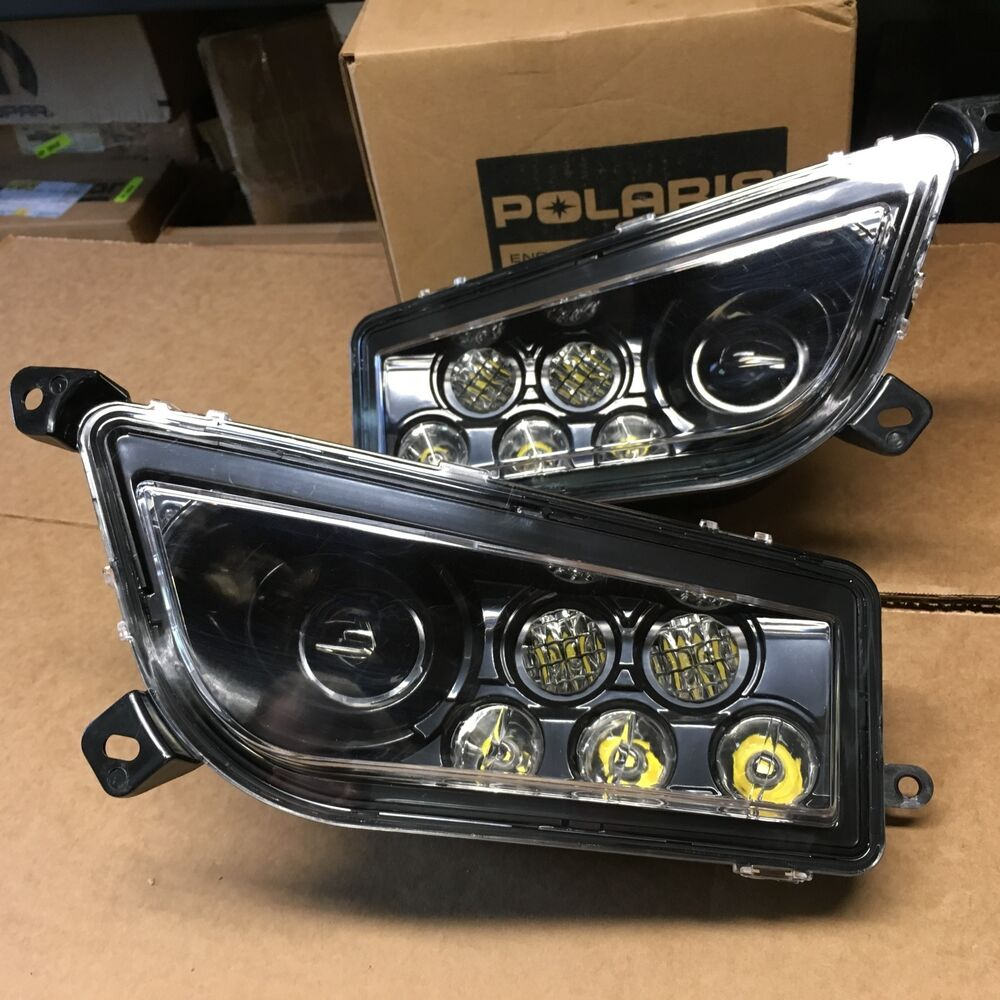 Led Headlight Conversion Kit >> 16-17 POLARIS GENERAL 1000 LED HEADLIGHT CONVERSION KIT-USA(headlights black)pc | eBay