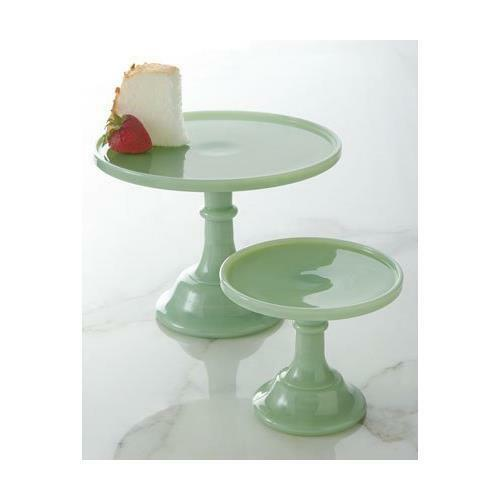 "Jadeite 6"" Glass Cake Stand - By Mosser Glass 