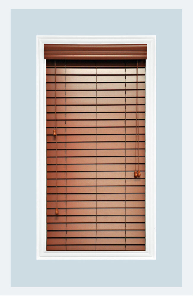 Custom Made Cherry Colored 2 Quot Faux Wood Window Blind