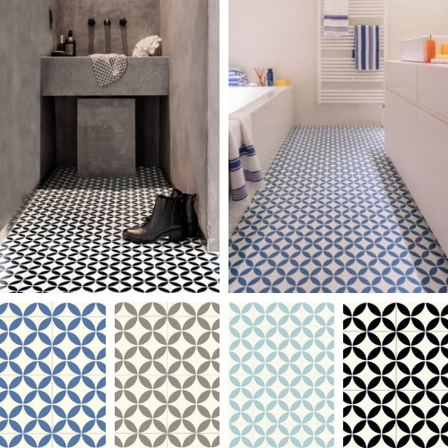 Linoleum Kitchen Flooring Pictures: Victorian Tile Design Vinyl Flooring Sheet Non Slip Lino