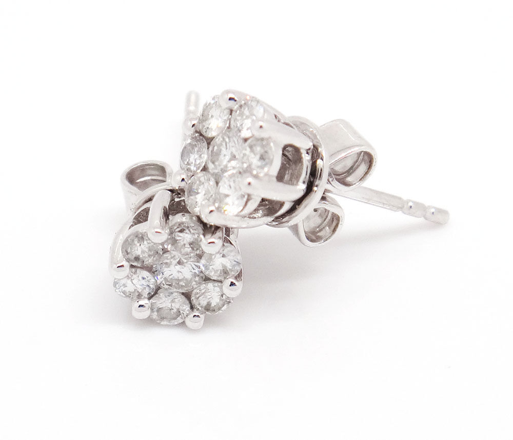 Diamond Cluster Earrings Ebay