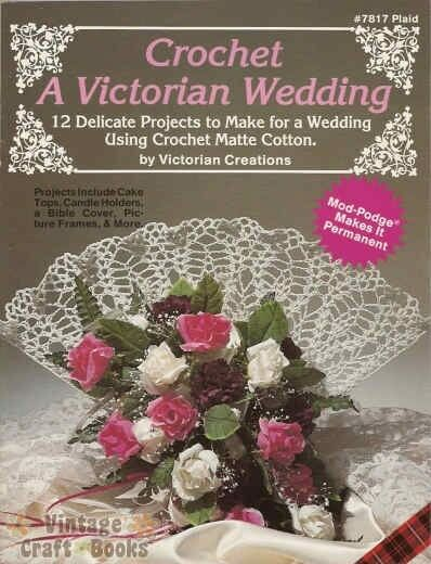 Book Cover Crochet Uk : Crochet a victorian wedding pattern book cake top bible