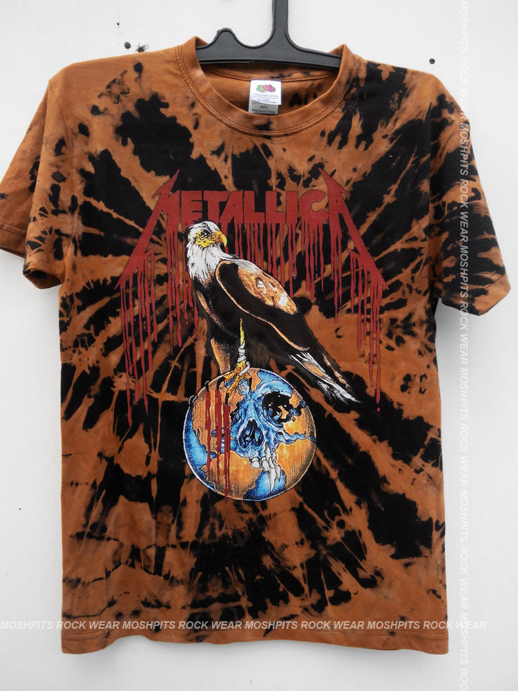 metallica t shirt retro vintage tour concert 90 39 s custom