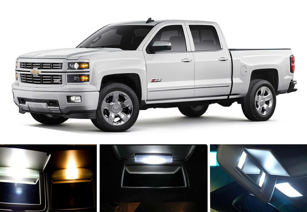 White Vanity Sun Visor Led Light Bulbs For Chevrolet