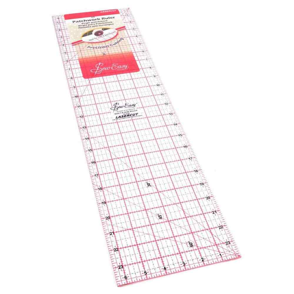 Sew Easy Patchwork Quilting Ruler 6 5 Quot X 24 Quot Ebay