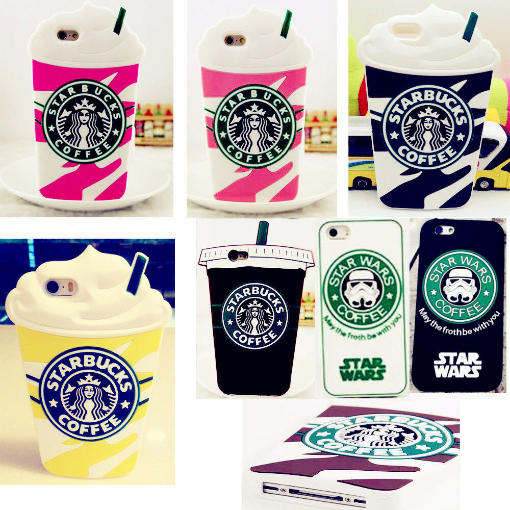 3D Starbucks Soft Silicone Gel Rubber Cover Case Skin For