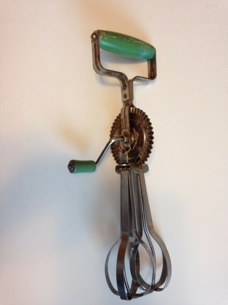 Rare Vintage Egg Beater Hand Mixer Taplin Mfg Co 1924 Us