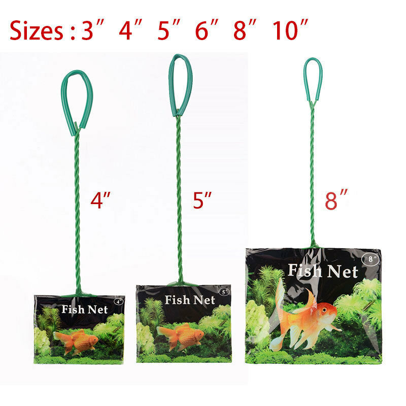 Aquarium fish tank 3 4 5 6 8 10 fish net tropical cold for Fish tank net