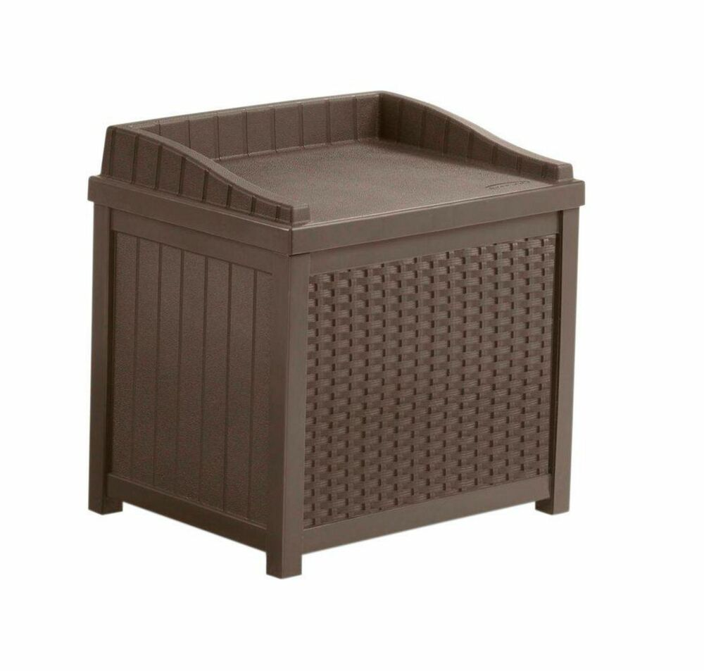Suncast Brown Indoor Outdoor 22 Gallon Resin Wicker