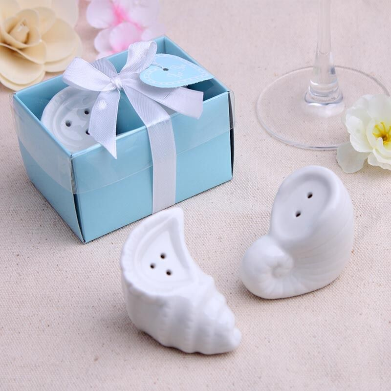 10x Seashell Salt Pepper Shaker Wedding Bomboniere Baby Shower