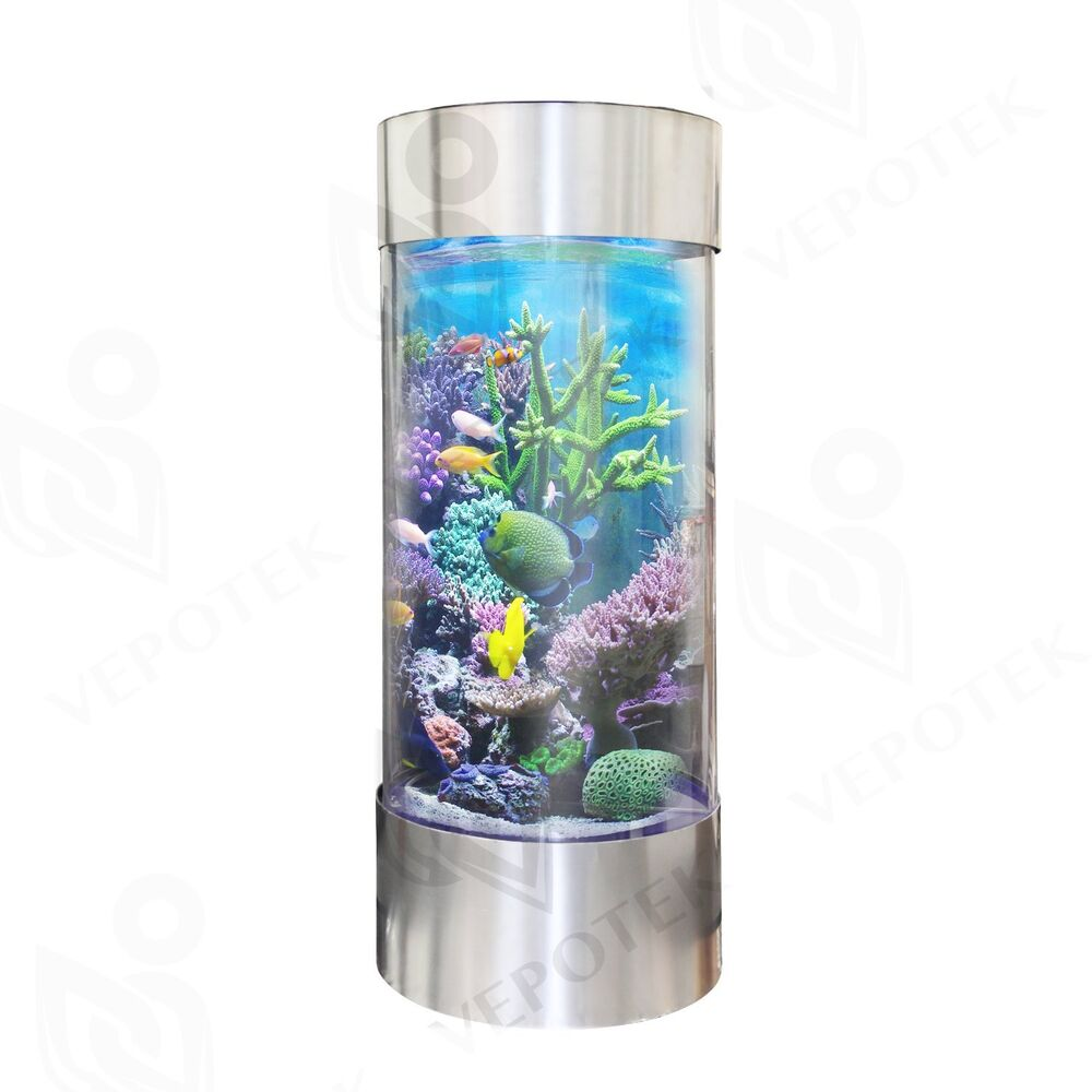 360 cylinder aquarium tank w stainless steel trim 50