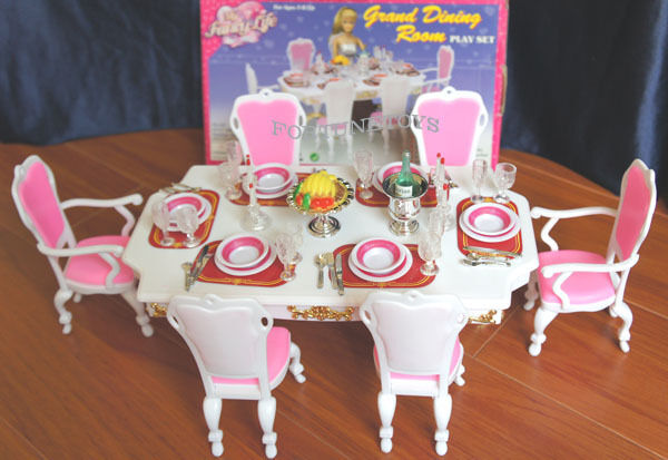 New Fancy Life Doll House Furniture Grand Dining Room