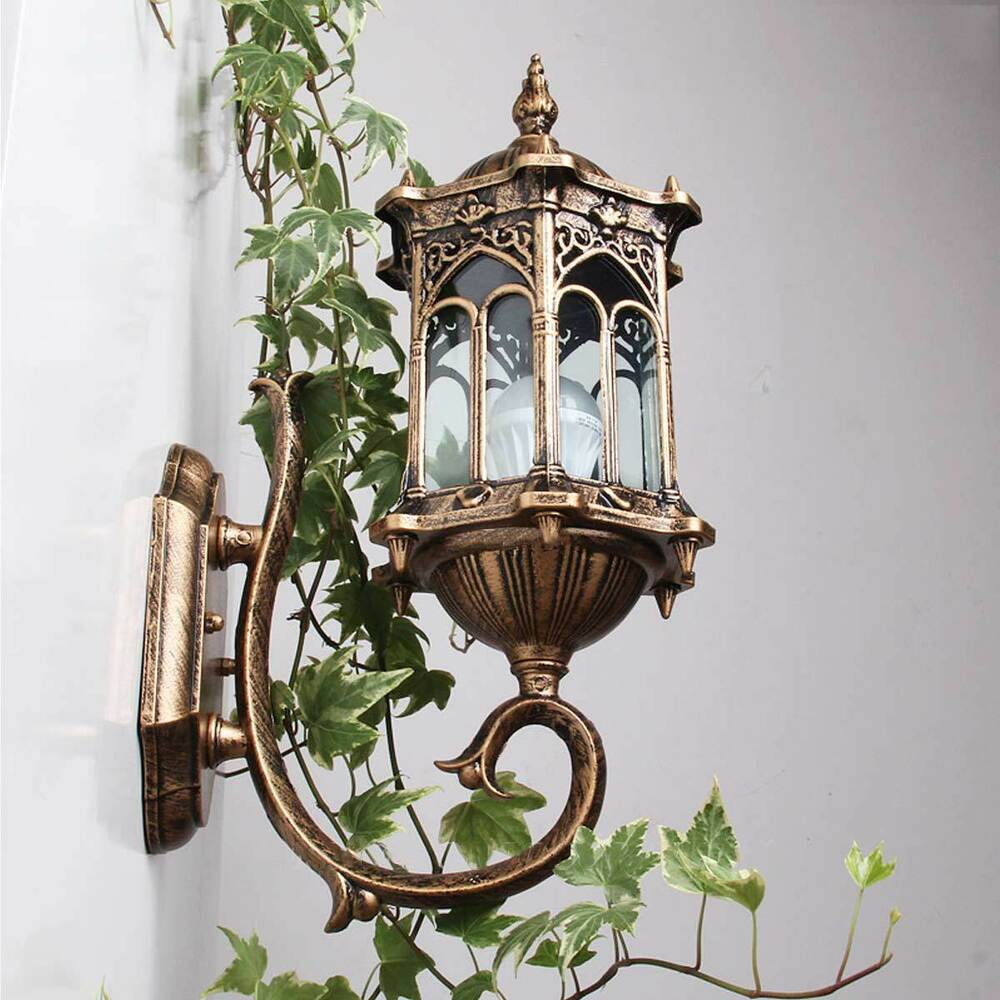Vintage Outdoor Wall Lamps : Retro Exterior Wall Lantern Waterproof Lamp Outdoor Wall Sconce Wall Lights NEW eBay