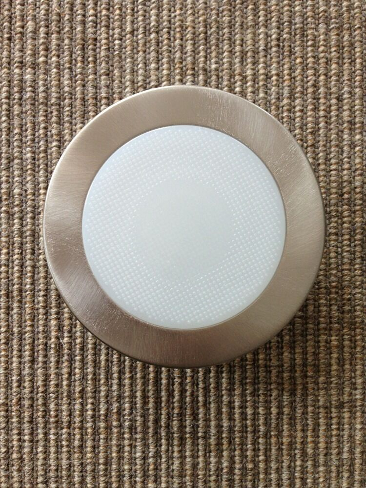 Canned Light Lenses : Quot inch recessed can light satin nickel shower trim