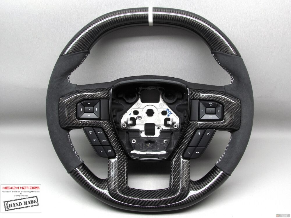 F150 Custom Parts >> 2017 Ford Raptor Ford F150 THICKER Flat Top Bottom Custom CARBON Steering WHEEL | eBay