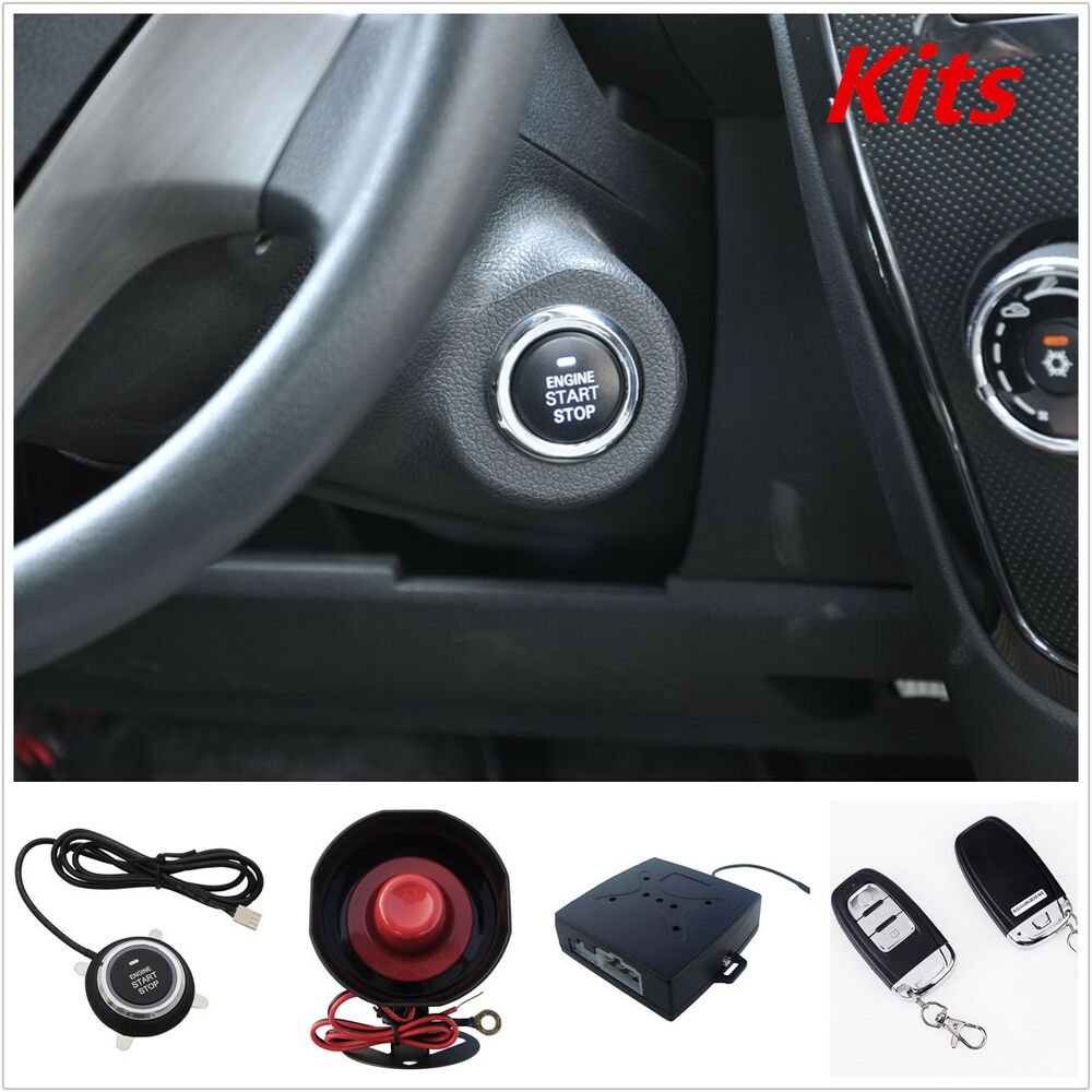 pke passive keyless entry car alarm remote start push button start with flip key 4683812052960. Black Bedroom Furniture Sets. Home Design Ideas