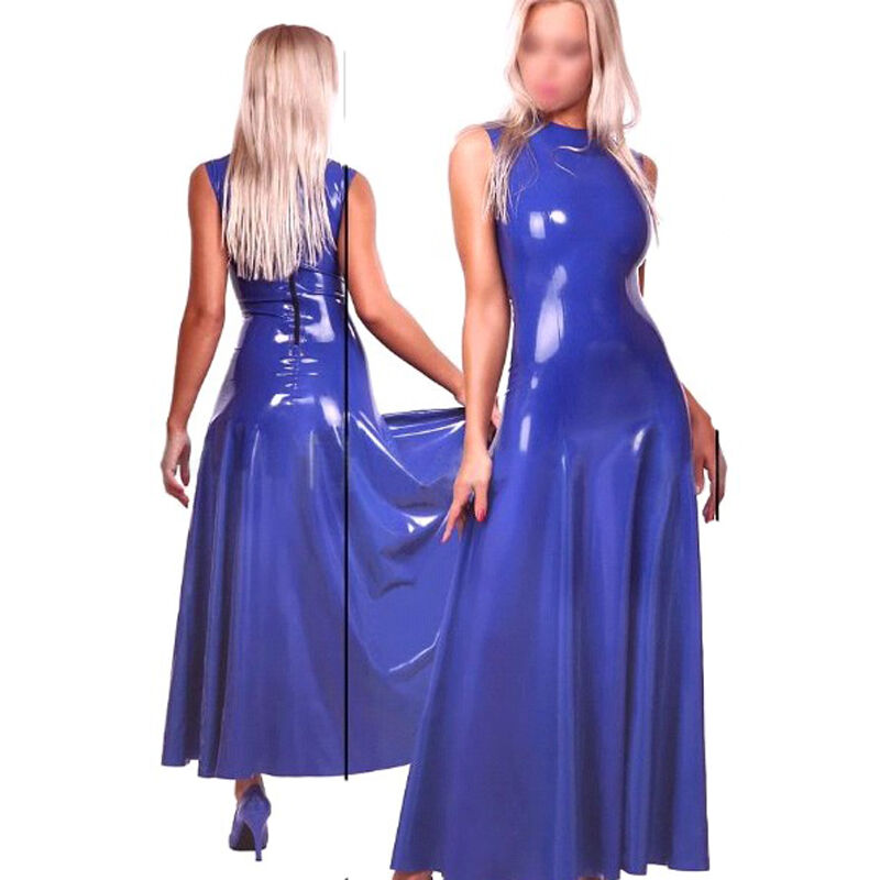 sexy latex women dress handmade rubber costumes slim evening dresses party wear 645497811922