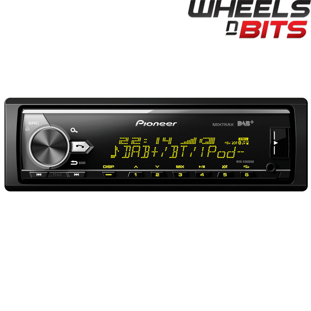 pioneer mvh x580dab mechless bluetooth usb dab car stereo. Black Bedroom Furniture Sets. Home Design Ideas