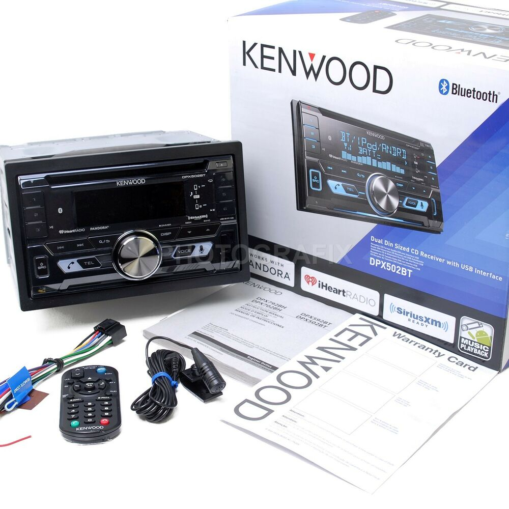 Kenwood DPX502BT Double DIN CD Bluetooth SiriusXM Car