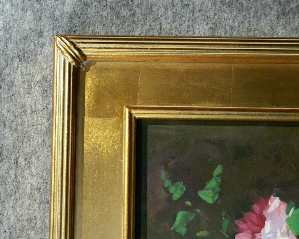 Ready Made Frames : Gold plein air contemporary gallery wood picture ready