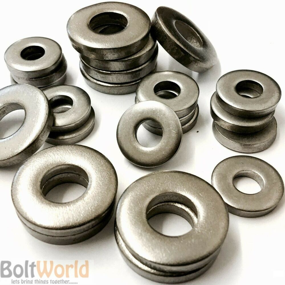 A stainless steel marine grade extra thick flat spacer