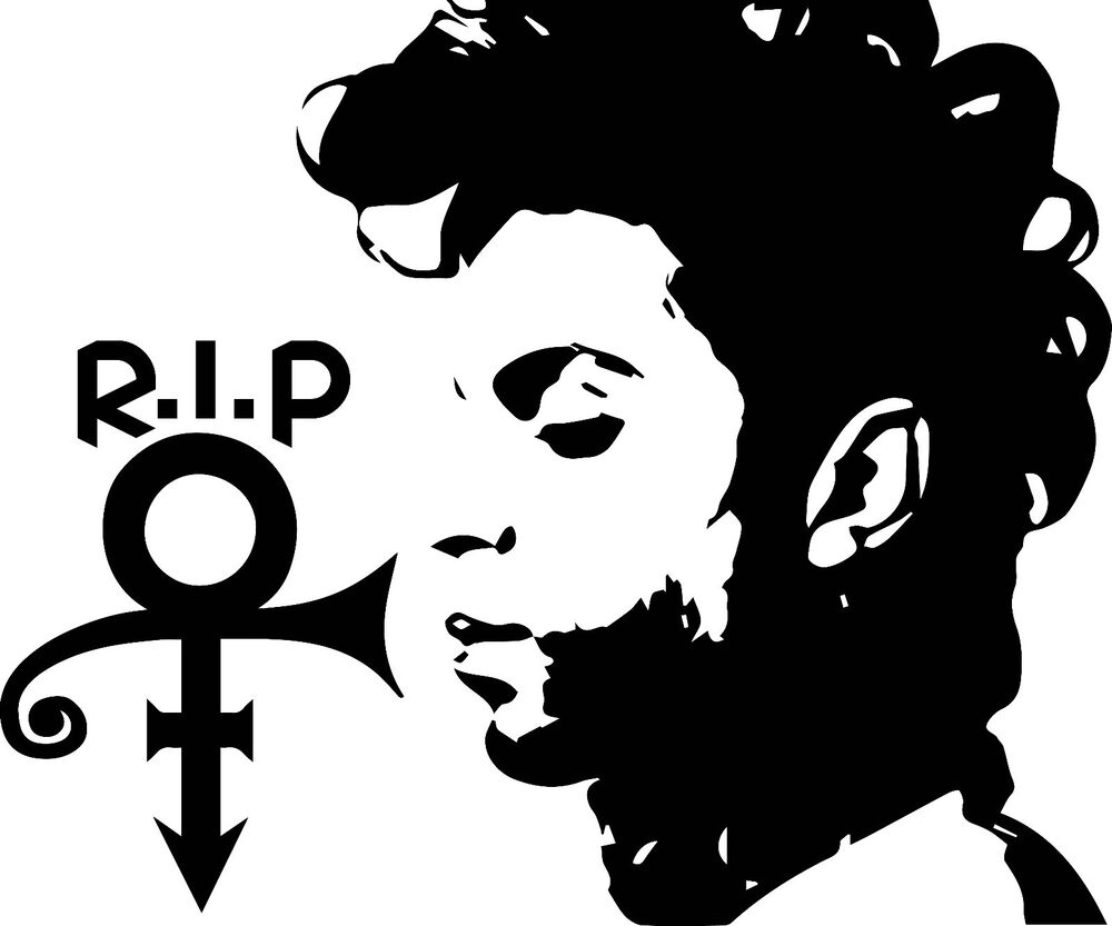prince rip symbol decal sticker for cartruck laptop