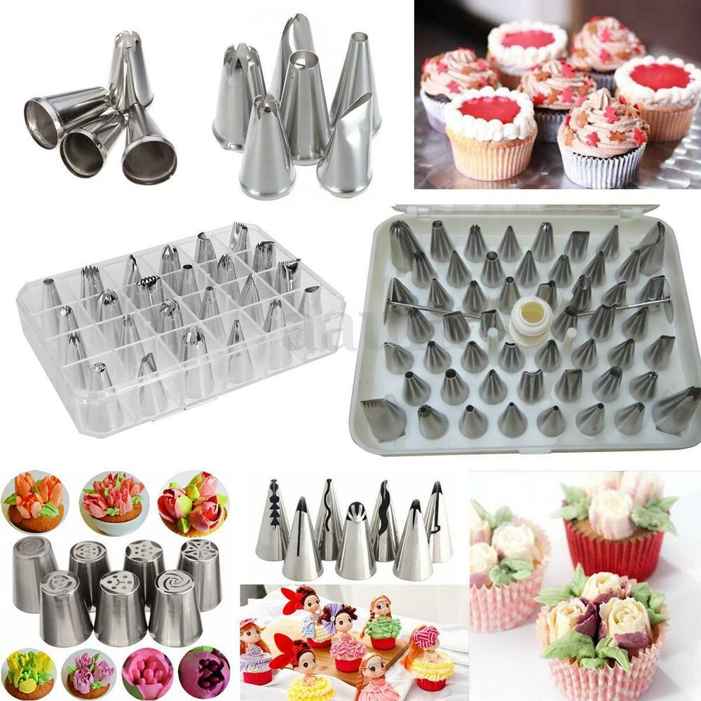 Icing Piping Nozzles Pastry Tips Cupcake Cake Sugarcraft ...