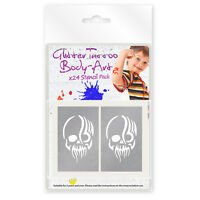 24 x BOYS MINI GLITTER TATTOO / BODY ART MIXED STENCILS !