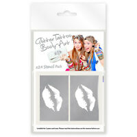 24 x Pop Girlz Mini Glitter Tattoo / Body Art Mixed Stencils!