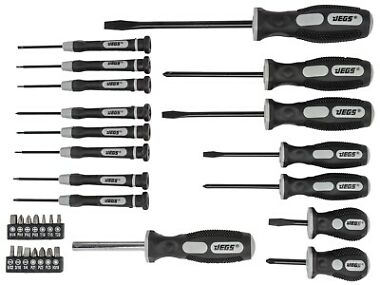 JEGS 30-Pcs Screwdriver Tools Set