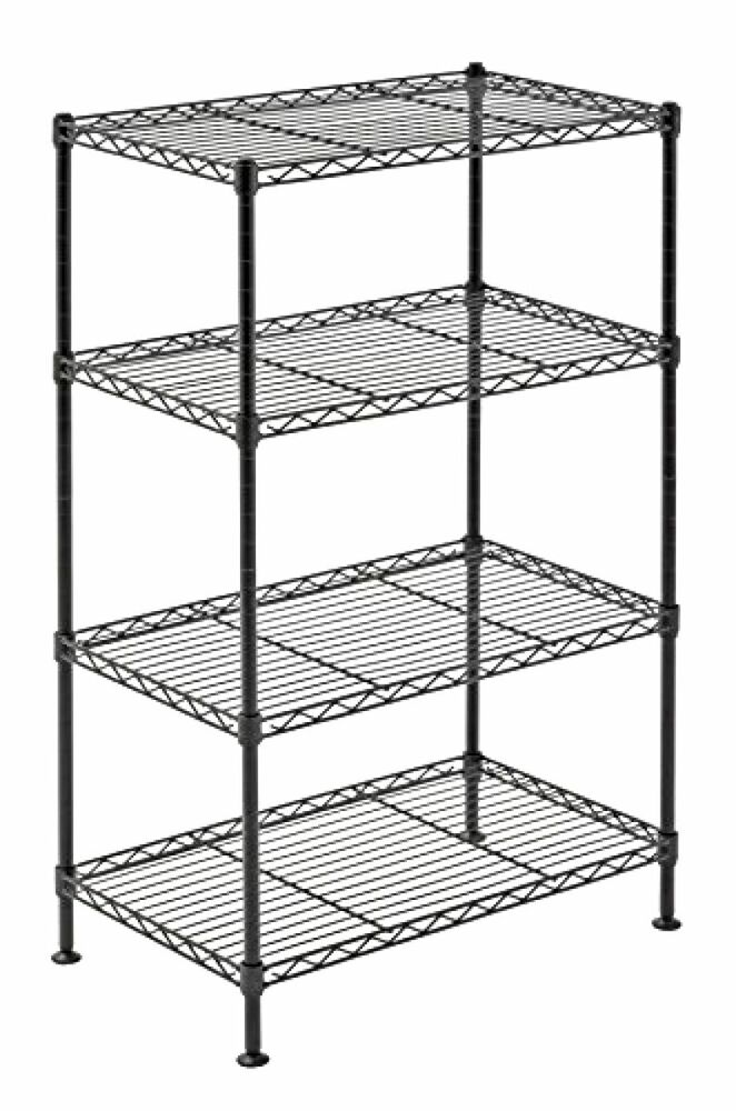 storage shelving units 4 tier wire shelving rack metal shelf adjustable unit 26896