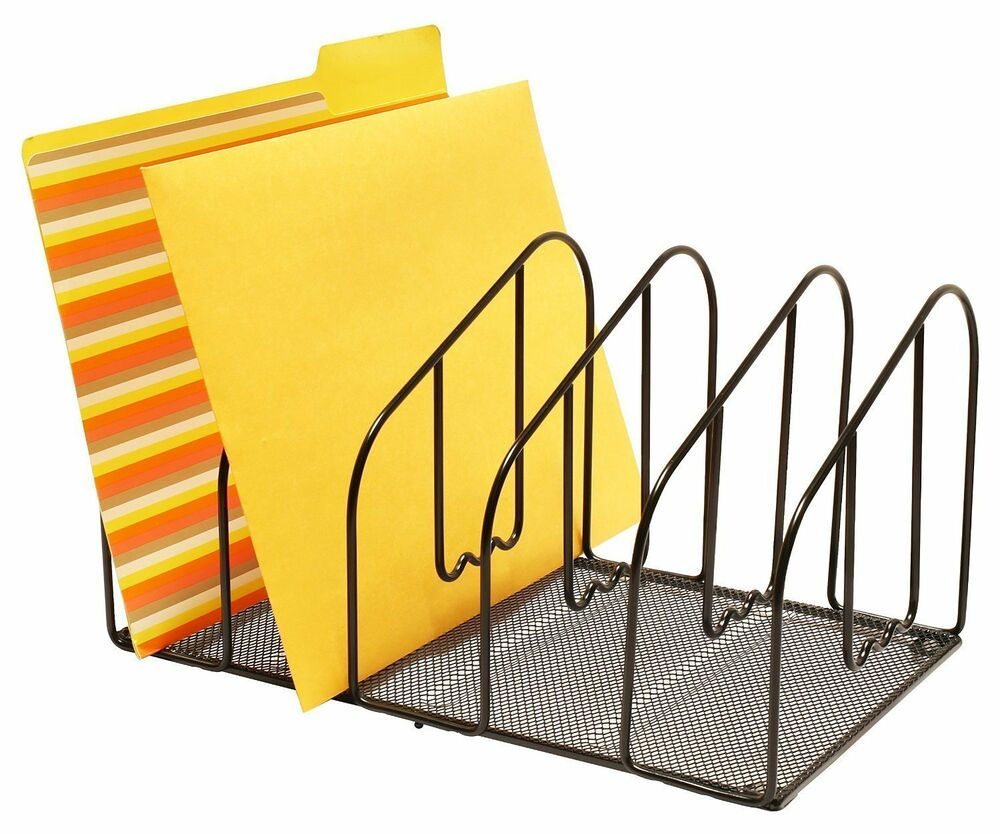 New desk file folder holder letter sorter rack organizer - Desk organizer sorter ...
