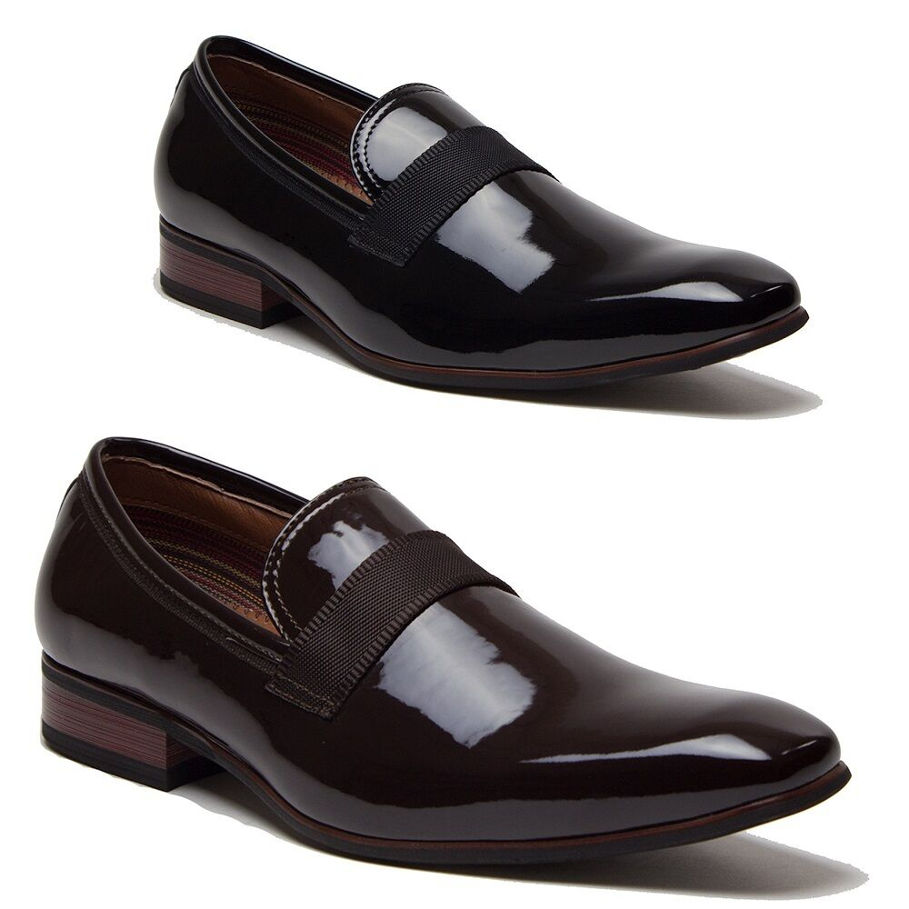 Patent Once upon a time, super-shiny, patent leather was reserved exclusively for wearing with a tuxedo, but as formal and casual become increasingly blurred you're as likely to see as many patent shoes on the street as you are at a ball. The permanent finish is traditionally a linseed oil lacquer, but is now commonly achieved with a synthetic coating.