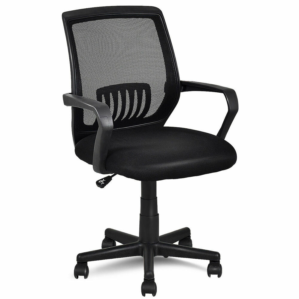 Modern Ergonomic Mid-back Mesh Computer Office Chair Desk ...