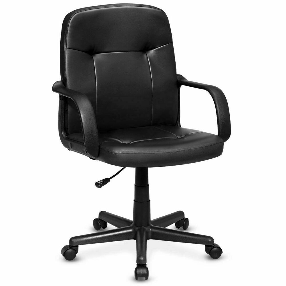 Ergonomic PU Leather Midback Executive Computer Best Desk ...