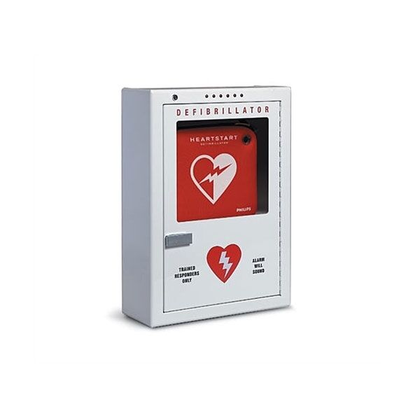 Philips Aed Defibrillator Cabinet W Battery Powered Alarm