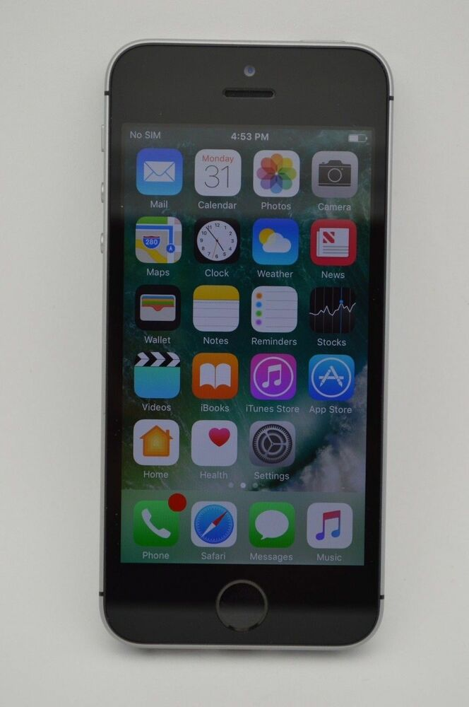 apple iphone se 128gb space gray gsm unlocked at t metropcs t mobile cricket 190198292018 ebay. Black Bedroom Furniture Sets. Home Design Ideas