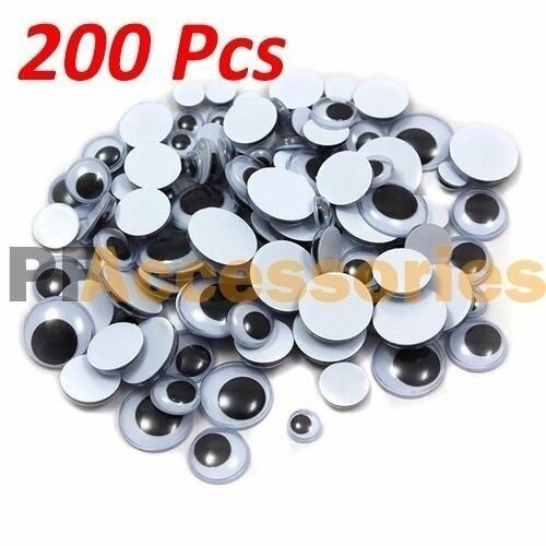200 pcs assorted sizes wiggly googly eyes 7 sizes for diy for Large googly eyes crafts