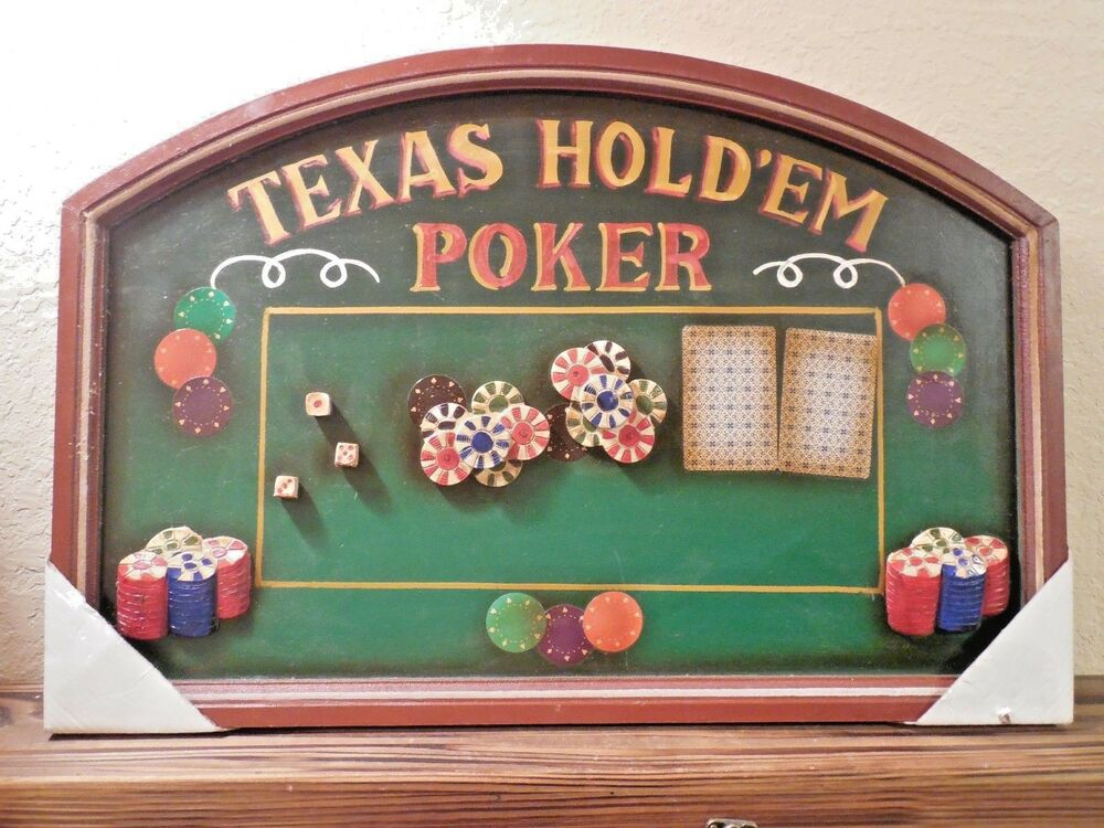 Texas Man Cave Decor : Texas hold em poker man cave bar d dice chips game room