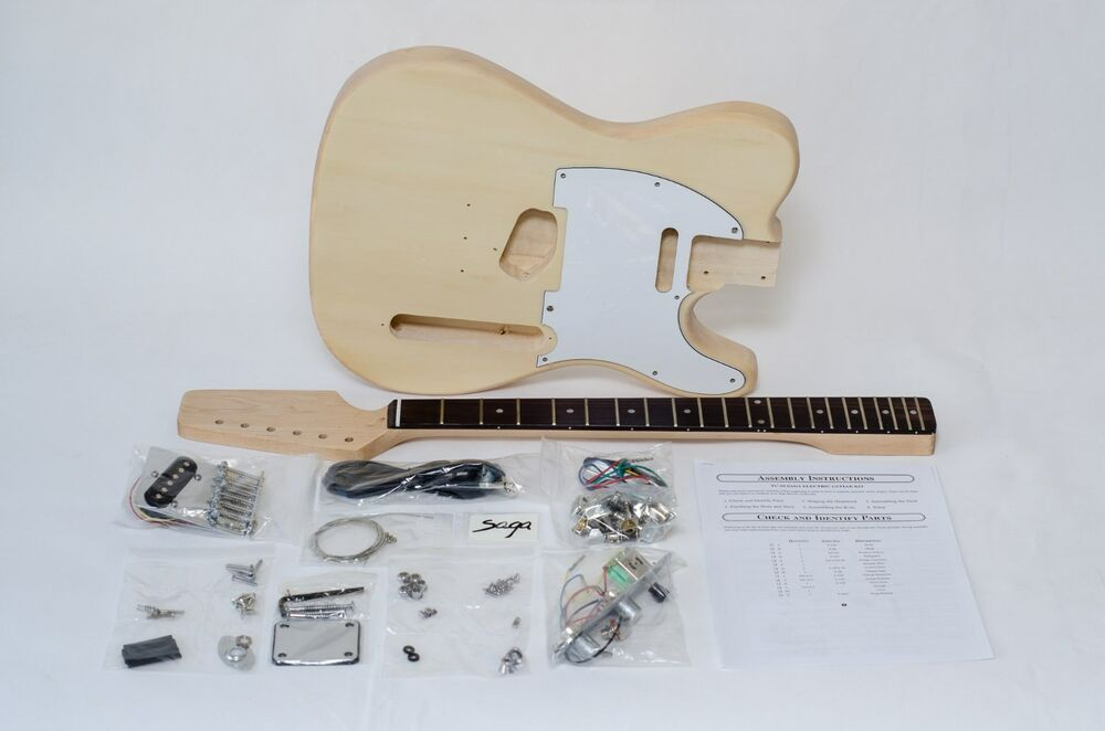 saga build your own tc electric guitar kit ebay. Black Bedroom Furniture Sets. Home Design Ideas
