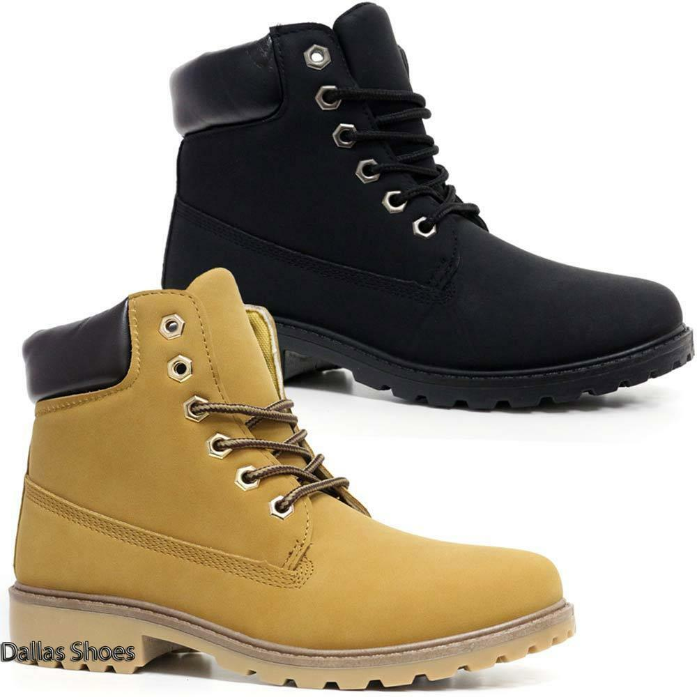 Ladies Hiking Boots Womens Ankle Desert Trail Combat Chelsea Walking