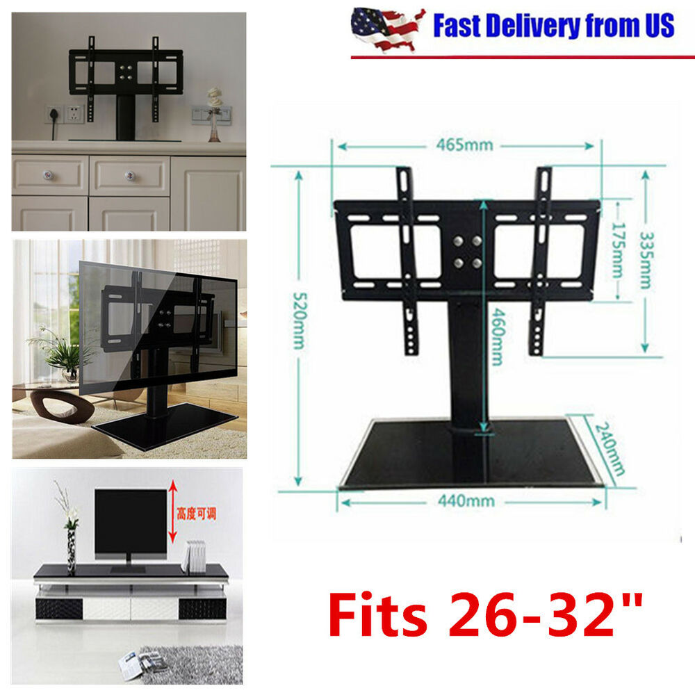 Universal Fit Tv Stand Base Wall Mount For 26 30 32