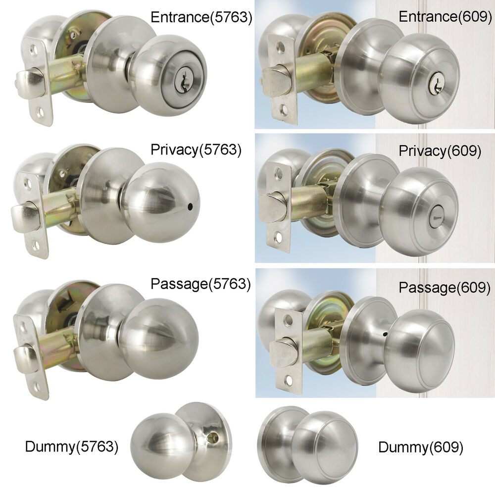 Probrico Entry Privacy Passage Dummy Lock Satin Nickel